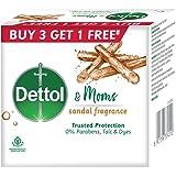 Dettol & Moms Bathing Soap Sandal, 75gm, Pack of 4