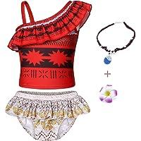 AmzBarley Moana Costumi a Due Pezzi/Interi da Ragazze Bambina Tracolle Costume da Bagno Mare Piscina Nuoto Nuotare…