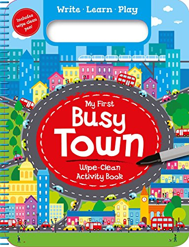 My First Busy Town: Wipe-Clean Activity Book por Igloobooks