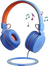 Kopfhörer Kinder, Calmare Kinder Kopfhörer mit Mikrofon, Foldabe Kopfhörer einstellbar mit Mikrofon 3,5 mm für Tablets Computer MP3 / 4, Lebensmittelqualität Silikon, Perfekt für Kinder, Jungen, Mädchen