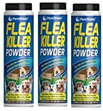 3 x PestShield Flea Killer Powder Crawling Insect Killer Indoor & Outdoor 200g Each