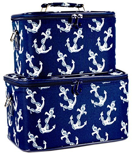 ever-moda-navy-blue-nautical-anchors-cosmetic-makeup-train-case-2-piece-set-by-ever-moda