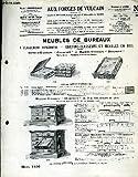 Catalogue-fascicule de meubles de bureaux. classement horizontal, cartons-classeurs et meubles en bois....