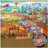 GREAT ART Foto Mural Radiocity para Habitación Infantil Wimmel Metropolo Póster Construcción Ciudad (336x238 cm)