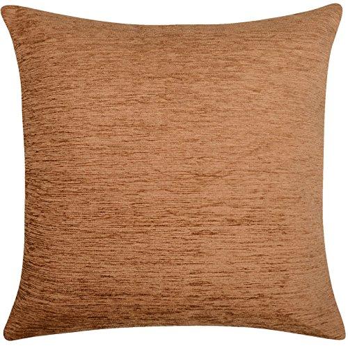 Housse de coussin Chenille doux 43 x 43, 43,2 x 43,2 cm, 100 % polyester/polyester, caramel, 43 x 43 cm