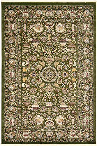 7' X 9 Grün (Traditionelle 213cm von 3m wahr (7'x 10') Kaschmar grün Bereich Teppich)