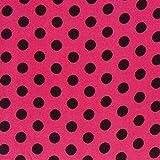 Satin Druck Punkte (11 mm) 6 – Purpur — Meterware ab