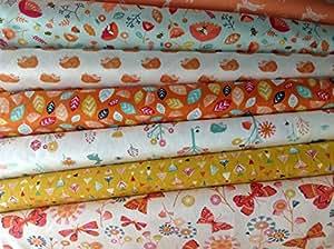 Nature Trail tissu Bundle-dashfb 16–7 pièces Nature Fabric Bundle Lot de 18 coupons de tissus (55 x 50 cm - 100%  coton