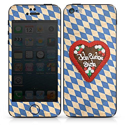 Apple iPhone 6 Case Skin Sticker aus Vinyl-Folie Aufkleber Love Muster Oktoberfest DesignSkins® glänzend