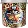 Sakana Highly Nutritious Colourful Mixed Fish Sticks - Complete Daily Feed Pond Dwelling Fish Food from Sakana