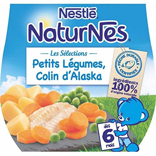 Nestlé Baby-naturnes Auswahl Baby-gemüse Pollock - Full Flat von 6 Monaten - 2 x 200 g - 4 stück