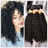 Wendy verschiedene Haar 182055,9cm 100g/Bundle natürliches Schwarz, Farbe Lang Lockig Echthaar Tresse Verlängerung brasilianisches Remy Virgin Echthaar Weave Schuss für Erwachsene