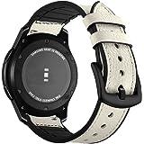 Aottom Compatible con Correa Galaxy Watch 46mm, Cuero Correas Samsung Gear S3 Frontier Banda 22mm Smartwatch Pulseras Repuest