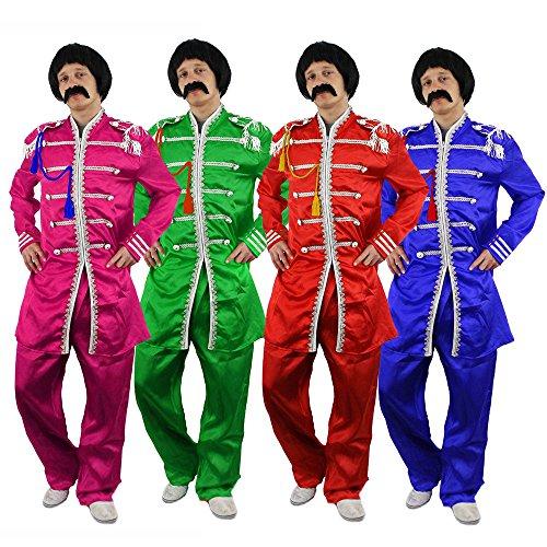 ILOVEFANCYDRESS Costume Bleue du célèbre Groupe Pop Anglais Les Beatles des années 60 avec la Veste + Le Pantalon. Ideal pour incarnez Leurs 8ème Albums. ( XLarge )
