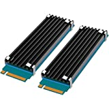 [2 Packs] GLOTRENDS M.2 Kylflänsar passar för PS5/PC, 0,12 tum (3 mm) tjock M.2 kylfena för 2280 M.2 PCIe SSD
