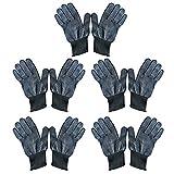 Vococal 5 paar Unisex Hitzebeständige Erhitzen Sie Blockieren Handschuhe für Haarglätter Lockenstäbe Welleisen Curling Zauberstab Haarstyling, Schwarz