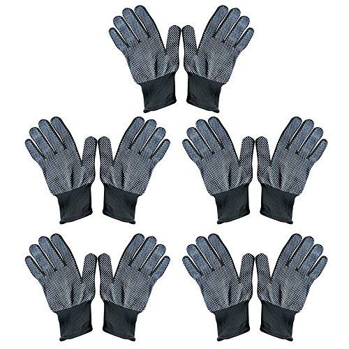 Vococal® 5 paar Unisex Hitzebeständige Erhitzen Sie Blockieren Handschuhe für Haarglätter Lockenstäbe Welleisen Curling Zauberstab Haarstyling, Schwarz