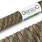 Ganzoo Paracord 550 Seil für Armband, Leine, Halsband, Nylon-Seil 30 Meter, Camouflage