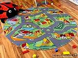 Kinder Spielteppich Little Village 200 cm Ø Rund