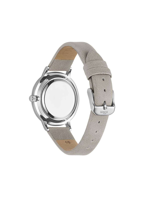 sOliver-Damen-Analog-Quarz-Uhr-mit-Leder-Armband