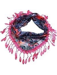 e60e9b0b453d Foulards Femme, Kolylong® Fashion Tassel Lace Sheer Burntout Imprimé Floral  Triangle Mantilla ÉCharpe ChâLe