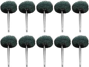 Voberry 10Pcs Abrasive Wheel Buffing Polishing Wheel Set for Dremel Rotary Tool