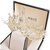 Hochzeitskrone für Braut, Königin Krone, Prinzessin Tiara Geburtstag Erwachsene, Geburtstagskrone Mädchen, Handgemachter Haar