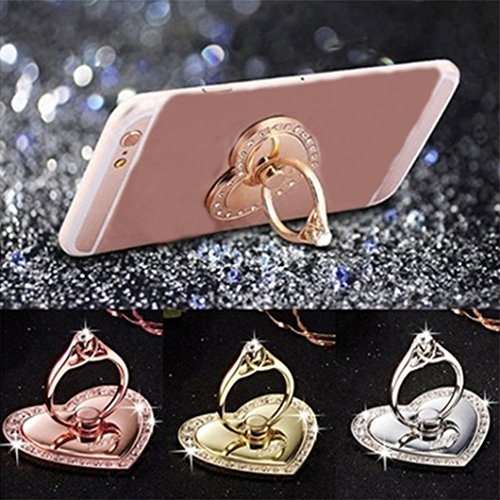 Gluckliy Metal Heart-shaped Phon...