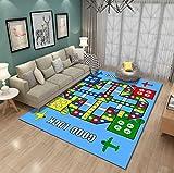 TWGDH Bereich Teppich Creeping Mat Kleinkinder Spiel Spiel Matte Boden Gym Rutschfeste Reversible Waschbar Krabbeln Teppich Für Kinderzimmer,#1,80 * 120Cm