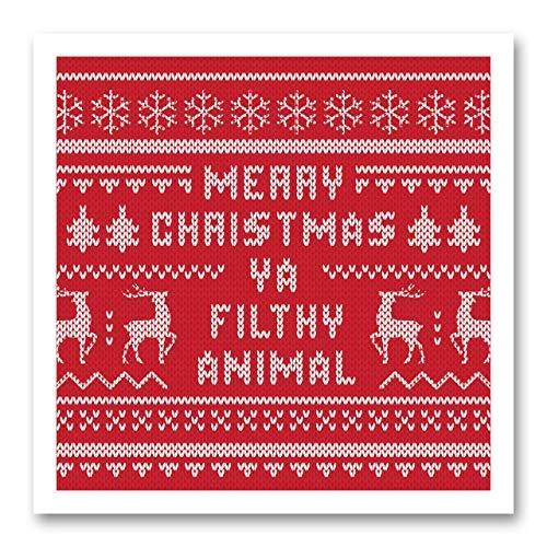 Ugly Sweater Digitale Servietten, uncoined Luncheon - Packung mit 25 Stück 15,2 x 15,2 cm gefaltet. Hergestellt in den USA