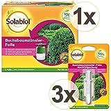SBM Solabiol GARDOPIA Sparpaket Buchsbaumzünslerfallen-Set (ehem. Bayer Natria) 1 Falle + 3 Nachfüller + Gardopia Zeckenzange mit Lupe