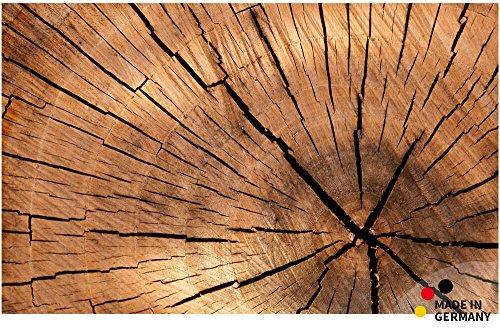 matches21 Küchenläufer Teppichläufer Teppich Läufer Baumstamm Holzmaserung braun 50x80x0,4 cm maschinenwaschbar