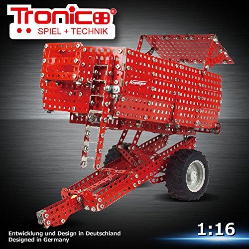 Preisvergleich Produktbild Tronico Metallbaukasten, Krampe Big Body E460, Traktor Anhänger, Wannenkipper, Maßstab 1:16, 801 Teile, 4-farbige Aufbauanleitung, inklusive Werkzeug, Profi Serie, ab 12 Jahren, rcee