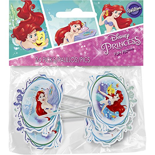 Wilton 2113-5660 Disney Princess Little Mermaid 24 Count Ariel Fun Pix, Assorted