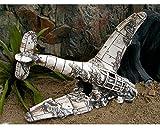 Deko Aquarium Flugzeug Höhle Fisch Keramik Dekoration Messerschmit Wrack Flieger
