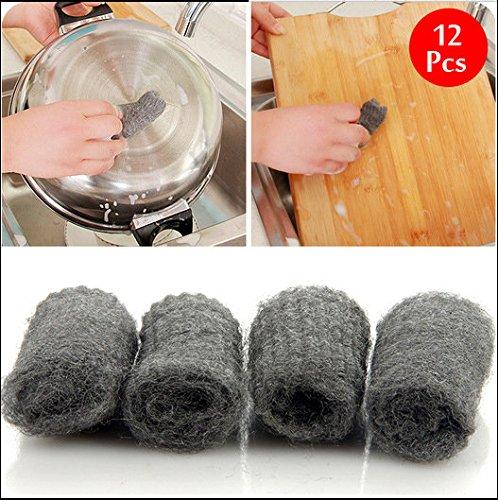 bazaar-12pcs-melamine-eponge-treillis-metallique-super-detergent-cuisine-outil-de-laine-dacier-degra