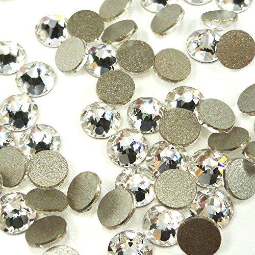 2058 Crystal (Crystal (001) klar Swarovski 2058Xilion/New 2088Xirius Nail Art 30SS flach Rücken Strass 6,4mm SS30* * kostenfrei Versand aus Jet (280) * * farblos)
