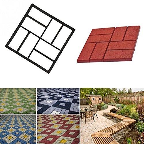 Molde para hacer pavimento de jardín, camino de piedra de cemento reutilizable para bricolaje, de 43,5 x 43,5 cm. Para decoración de jardín y patio, Type_C