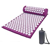 Acupressure Mat Massage Acupuncture Mat and Pillow Set Ideal for Neck, Back and Shoulder Pain Remedy and Stress Relief with S