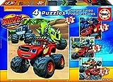 Blaze and the Monster Machines - Puzzles progresivos de 12, 16, 20 y 25 Piezas (Educa Borrás 17162)