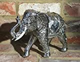 Gran plata espíritu figura de elefante