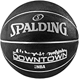 Spalding NBA Highlight Black In- Outdoor Basketball, Grösse:7