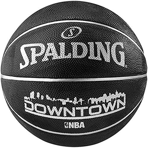 Spalding NBA Highlight Black In- Outdoor Basketball, Grösse: 7