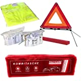 Auto's verbanddoos verbanddoos verbandtas gevarendriehoek veiligheidsvest eerste hulp combitas rood, eerste hulp volgens DIN