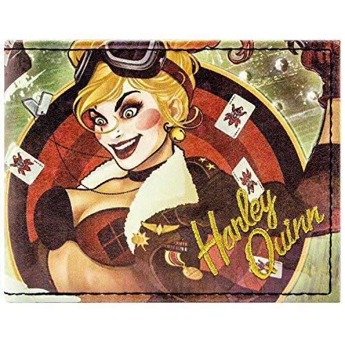 DC Comics Bombshells Harley Quinn Grün Portemonnaie Geldbörse -