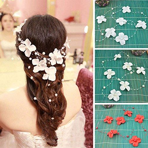 Preisvergleich Produktbild DIY romantische Braut Tiara,  elegante künstliche Perlen Perlen Threaded Angelschnur-wie Kette Garland Innovative Möbel Hochzeit Dekoration