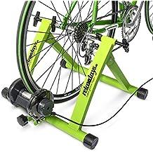 """Relaxdays Fahrrad Rollentrainer inkl. Schaltung mit 6 Gänge für 26-28"""", bis zu 120 Kg belastbar, Heimtrainer Fahrrad für Indoor Fahrradfahren zu Hause, Stahl"""