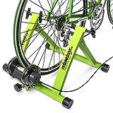 Relaxdays Rollentrainer Inklusive Schaltung 6 Gänge für 26-28 zoll bis 120 kg Belastbar Indoor Fahrradfahren Stahl, Grün, 10018322_53