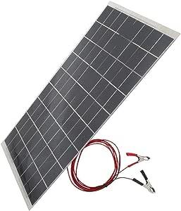 Rockyin Solar Panels 30w 12v Semi Flexible Solar Panel Ausrüstung Geräte Autobatterie Ladegerät Küche Haushalt
