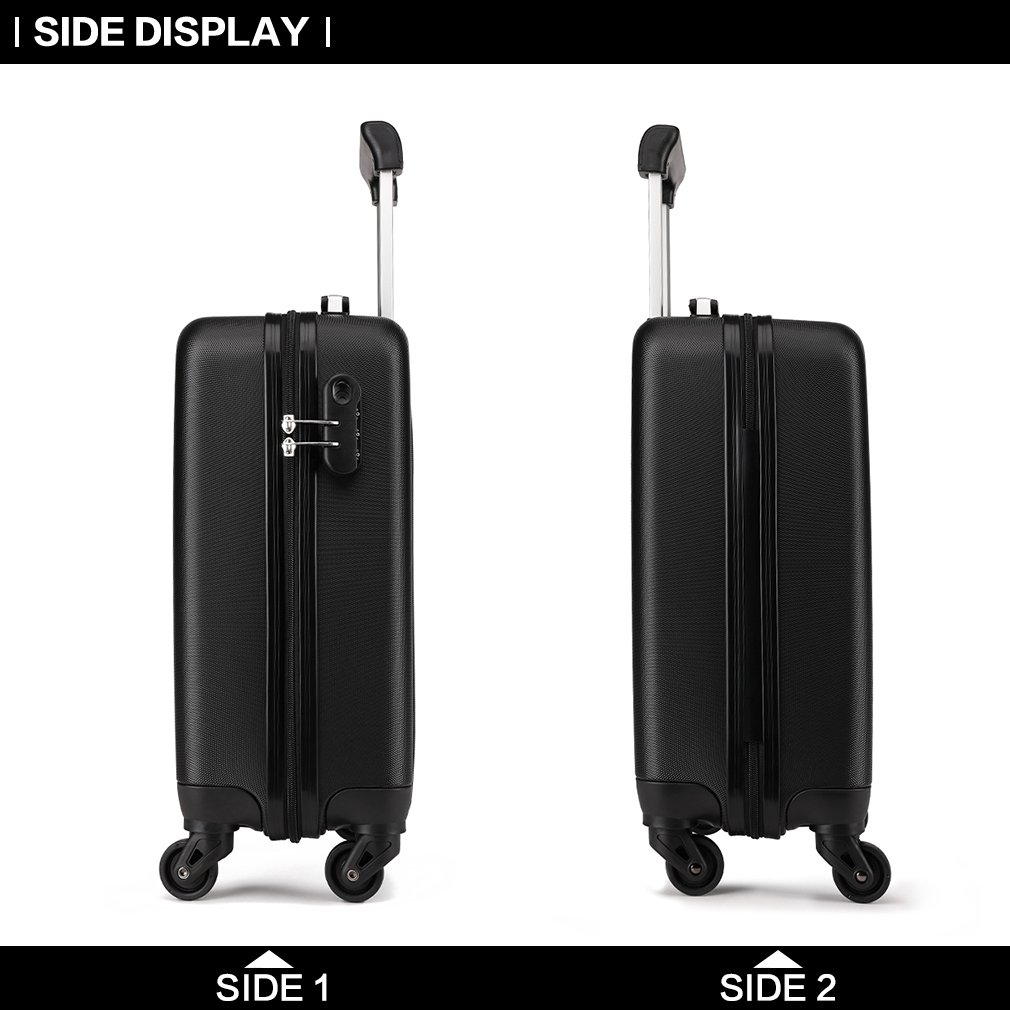 3279b8e66dbb Kono 19 inch Carry On Luggage Lightweight Hard Shell ABS 4 Wheel Spinner  Suitcase